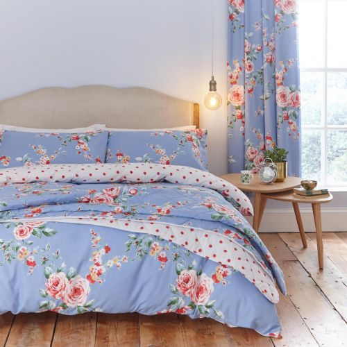 Catherine Lansfield Canterbury Blue Bedding Set